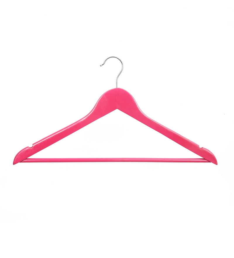 Ss16 Wooden Fuchsia Hanger - Set of 5 by @ Home