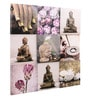 @ Home Canvas 33.5 x 1.6 x 34.3 Inch Unframed Pink Without Frame Asian Buddha Art Panel - Set of 9