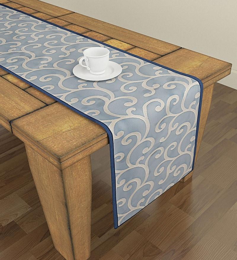 Buy Swayam Libra Printed Rust 100 Cotton Small Table Runner