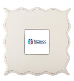 9.5 X 1 X 9.5 Inch Minster Solid Wood Photo Frame In White Color