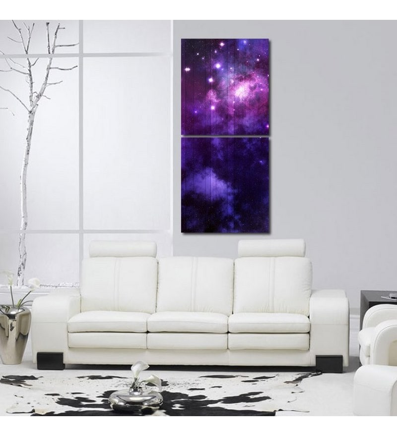 Sun Board 15 x 17 Inch Purple Starry Sky Durable Painting - Set of 2 by 999Store