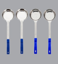 A-Plus Stainless Steel Solid & Perforated Measuring Ladles - Set Of 4 - 1681004