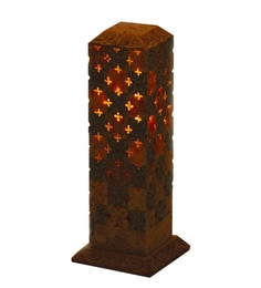 Aapno Rajasthan Multicolour Stoneware Single Candle Holder