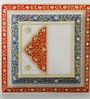 Aapno Rajasthan Multicolour Marble Contemporary Printed Chowki