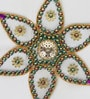 Aapno Rajasthan Multicolour Metal Beautiful Floral Shape Rangoli Art Piece with Magic Light