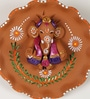 Multicolour Terracotta Floral Shape Wall Hanging by Aapno Rajasthan