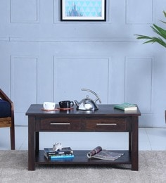 Abbey Coffee Table In  Warm Chestnut Finish