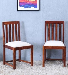 Abbey Dining Chair (Set Of Two) In Honey Oak Finish