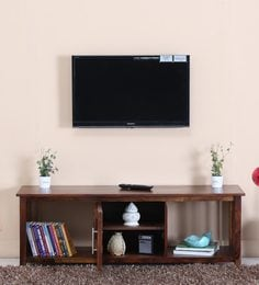 Abbey Entertainment Unit In Provincial Teak Finish
