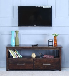 Abbey Entertainment Unit In Warm Chestnut Finish - 1597157
