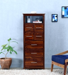 Abbey Tall Chest Of Drawer In Provincial Teak Finish