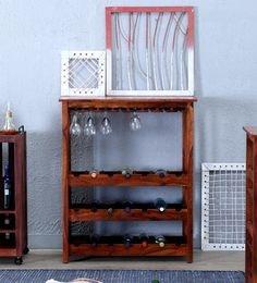 Abbey Wine Rack In Honey Oak Finish