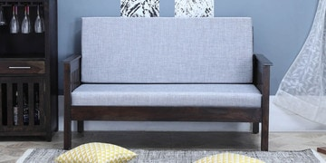 Abbey Two Seater Sofa In Warm Chestnut Finish