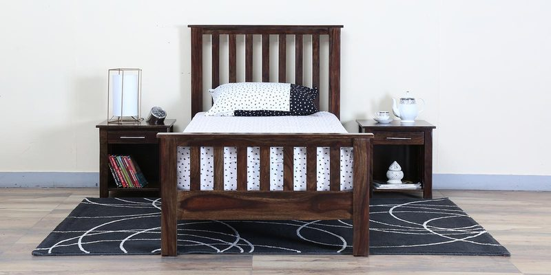 Abbey Solidwood Single Bed in Provincial Teak Finish by Woodsworth