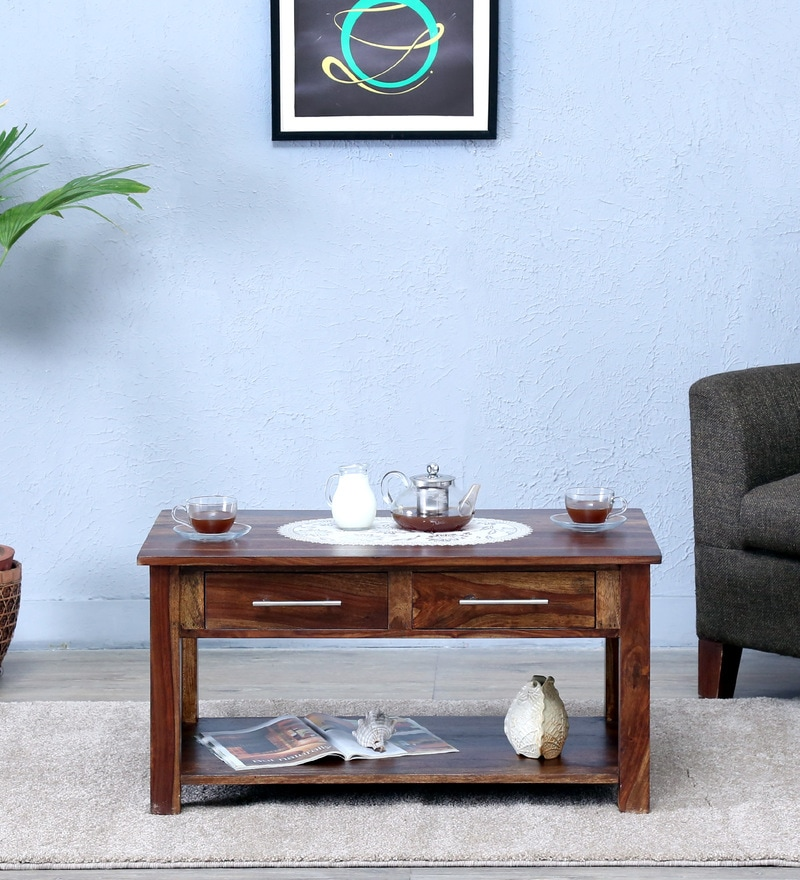 Abbey Coffee Table in  Provincial Teak Finish by Woodsworth