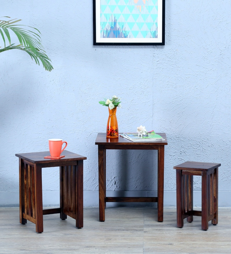 Abbey Set Of Tables in Provincial Teak Finish by Woodsworth