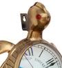 Brown Brass 12 x 6 x 18 Inch Antique Good Luck Tortoise Wall Clock by Zahab
