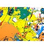 Hashtag Decor Abstract Vivid Expression Multicolor Engineered Wood 30 x 18 Inch Art Panel