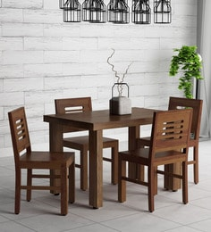 a8edf4a0bf2 Acropolis Solid Wood Four Seater Dining Set in Provincial Teak Finish ...