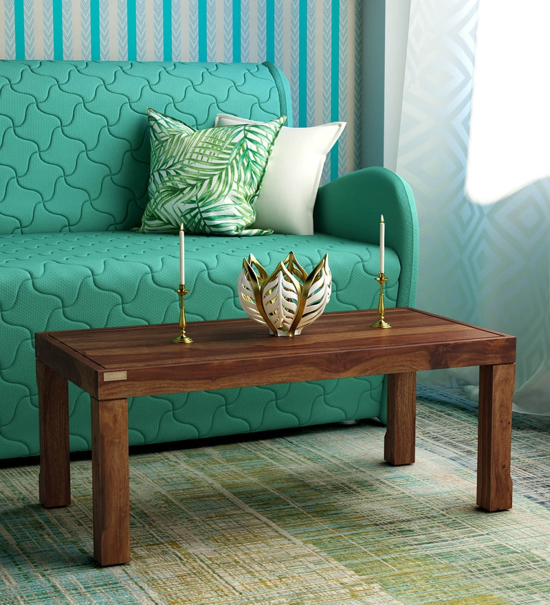 Buy Live Edge Coffee Table In Dark Brown Finish By Inliving Online