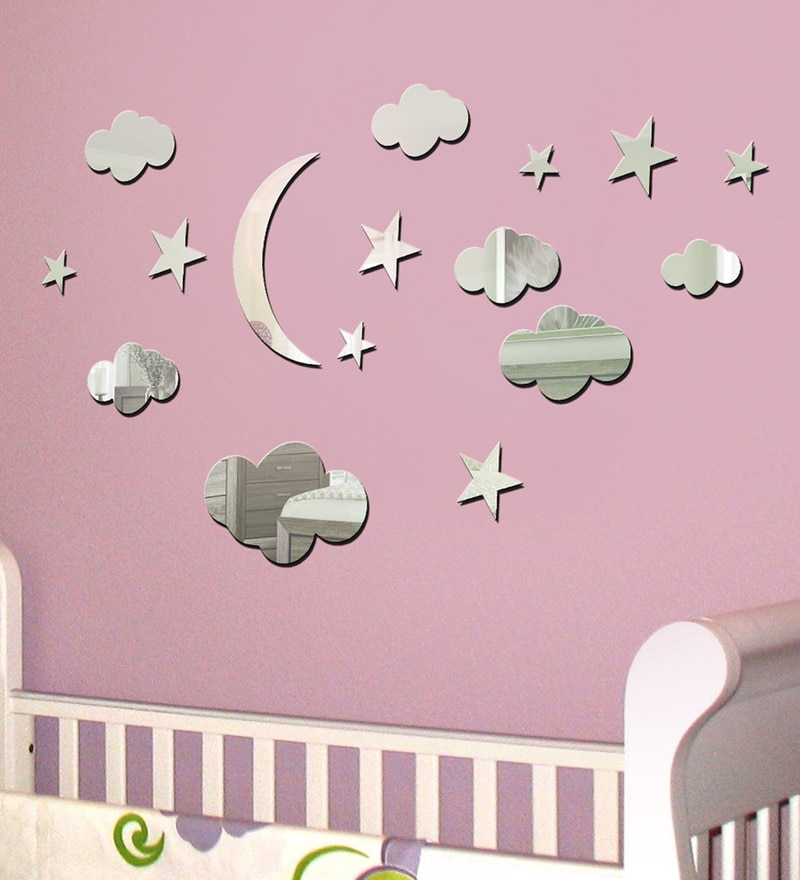 Acrylic Silver Sky View Wall Decals by Sehaz Artworks