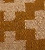 Carpet Overseas Cream Gold Jute 36 x 60 Inch Kilim Design Dhurrie