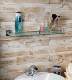 Aesthetic Home Solutions Chrome Steel U0026 Glass 19.5 X 5 X 1.5 Inch Bathroom  Shelf