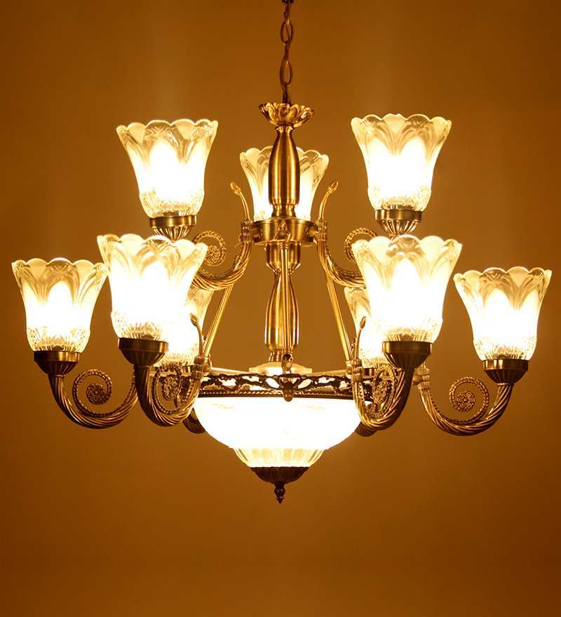 Aluminium 12 Lamp Shades Chandelier by Aesthetics Home Solution