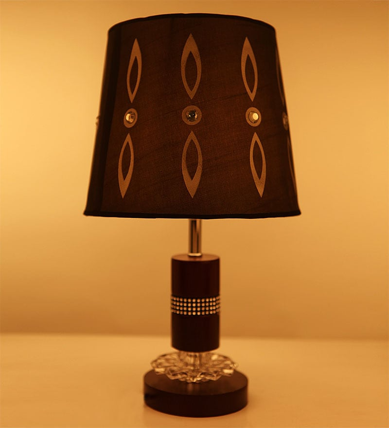Brown Fabric Table Lamp by Aesthetics Home Solution
