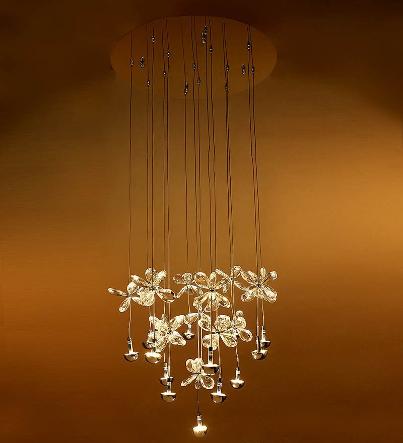 Transparent Glass Chandelier by Aesthetics Home Solution