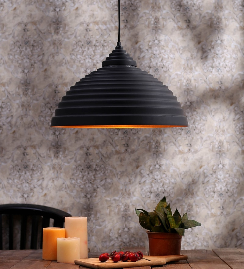 Black and Gold Metal Hanging Light by Aesthetics Home Solution