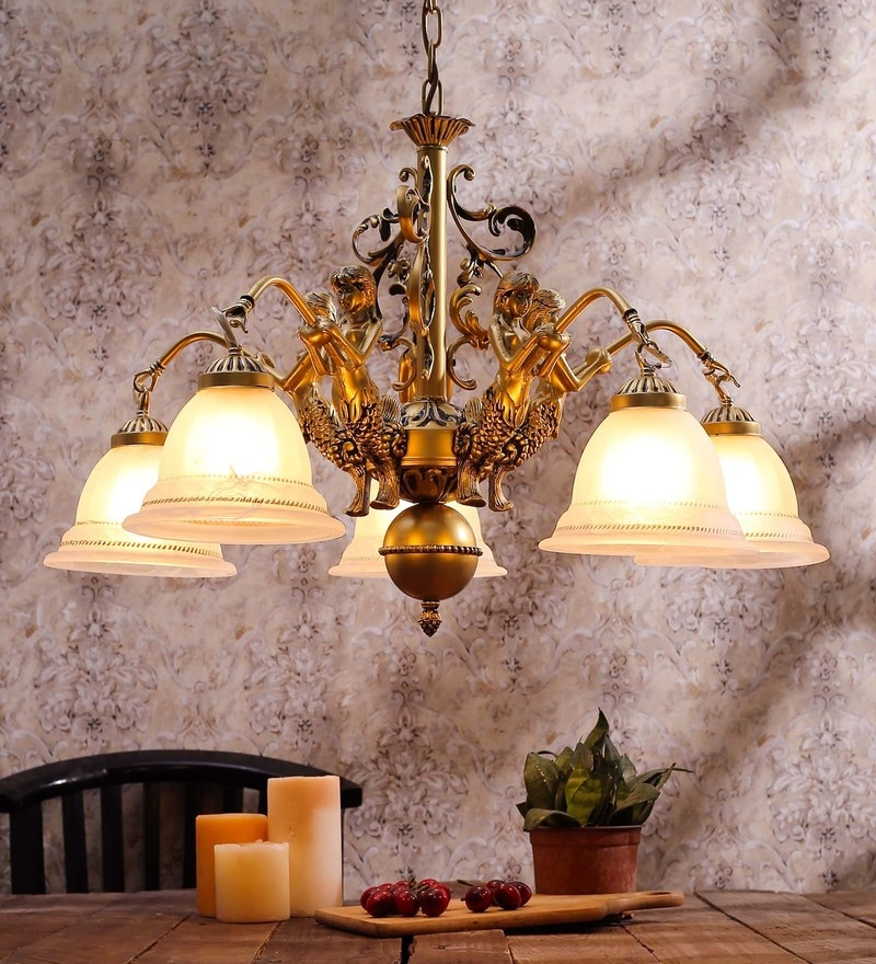 White Glass Chandelier by Aesthetics Home Solution