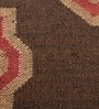 Carpet Overseas Brown Jute 24 x 37 Inch Kilim Design Dhurrie