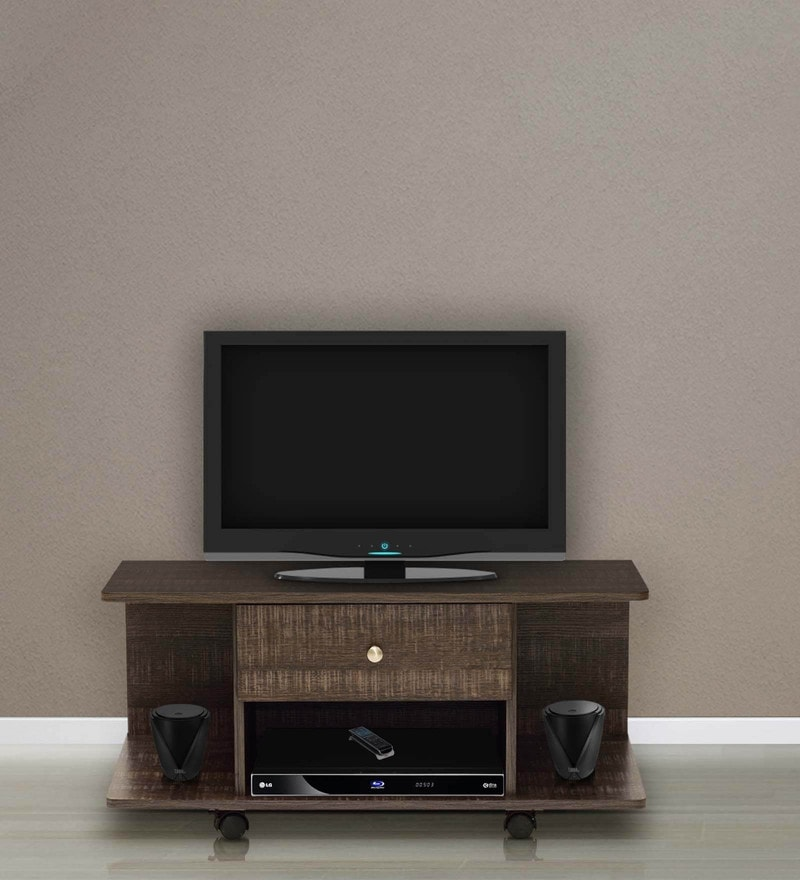 Akira Entertainment Unit with One Drawer in Wenge Finish by Mintwud