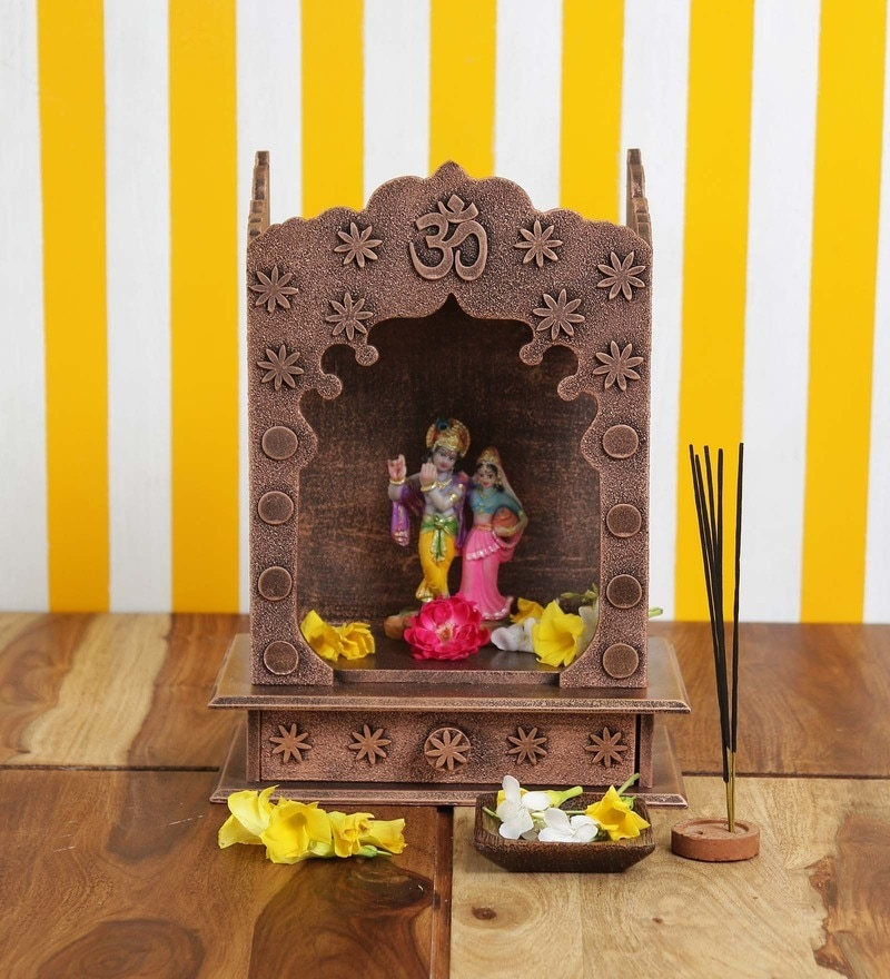 Copper MDF Home Temple by ShriNath