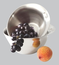 Alda 1 Ply Stainless Steel Serve Bowls,1000 & 2000 ML - Set Of 2