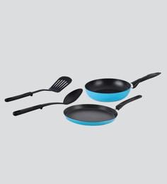 Alda Le Blue Non Stick Cookware Gift - Set Of 4