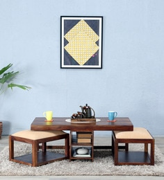 Algona Coffee Table Set In Provincial Teak Finish