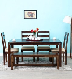 Woodinville Six Seater Dining Set In Provincial Teak Finish