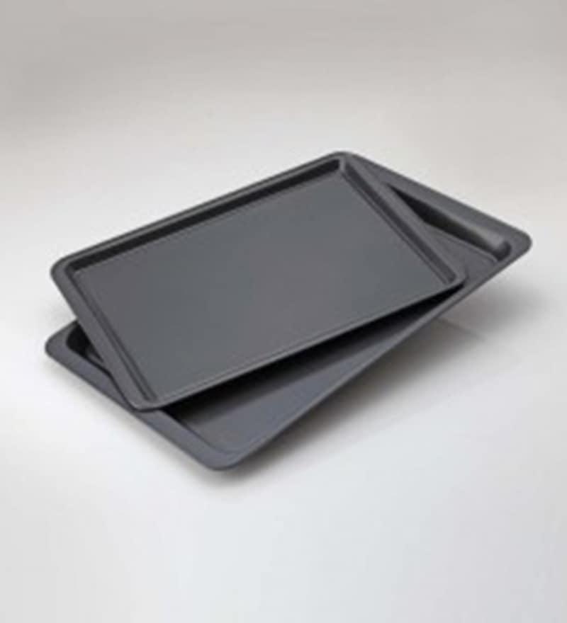 Alda Carbon Steel Baking Trays - Set of 2
