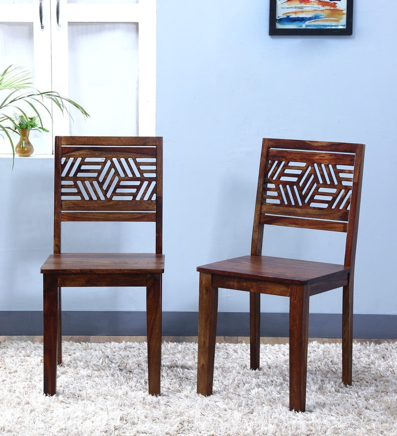 Alder Dining Chair (Set of Two) in Provincial Teak Finish by Woodsworth