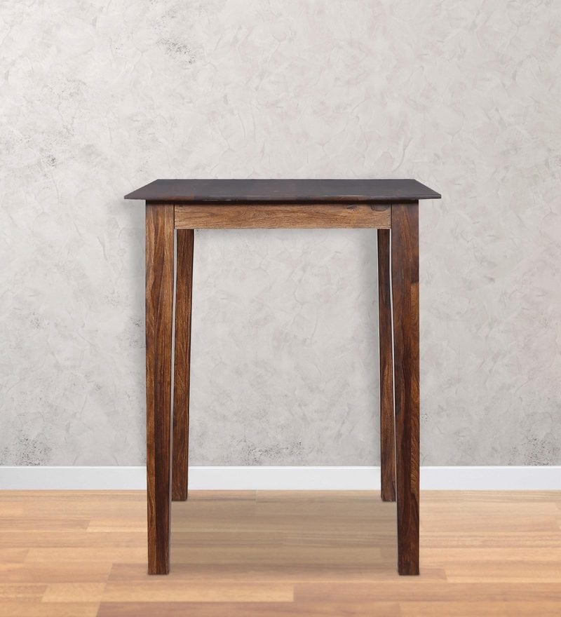 Alder Square High Dining Table in Provincial Teak Finish by Woodsworth