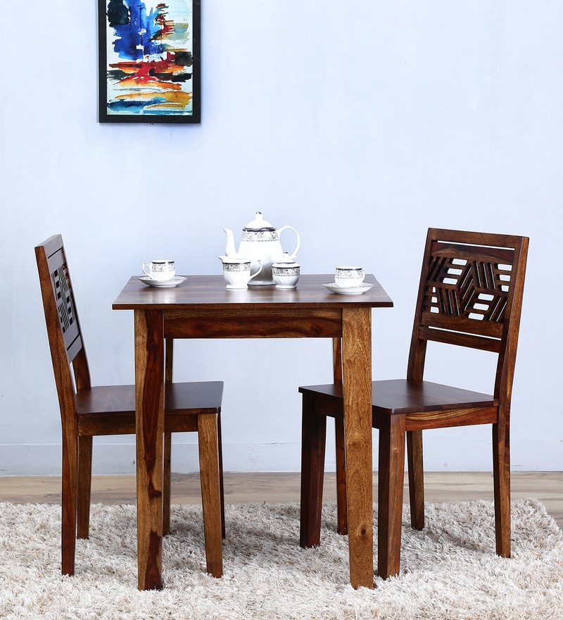 Alder Two Seater Dining Set in Provincial Teak Finish by Woodsworth