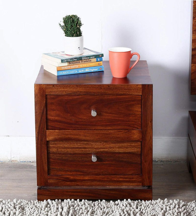 Algona Bed Side Table in Provincial Teak Finish by Woodsworth
