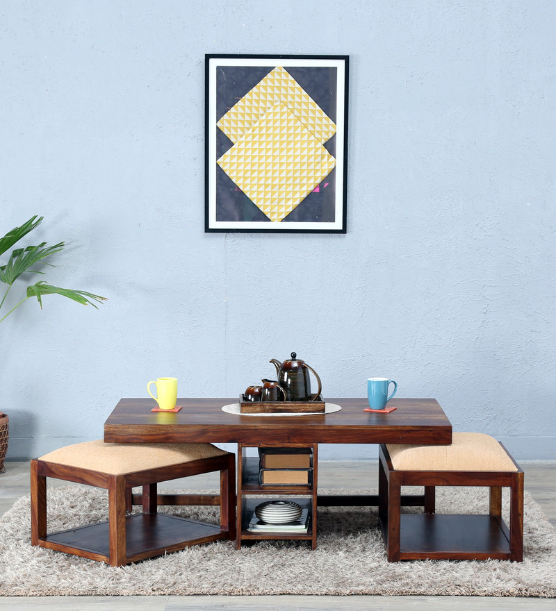 Algona Coffee Table Set in Provincial Teak Finish by Woodsworth