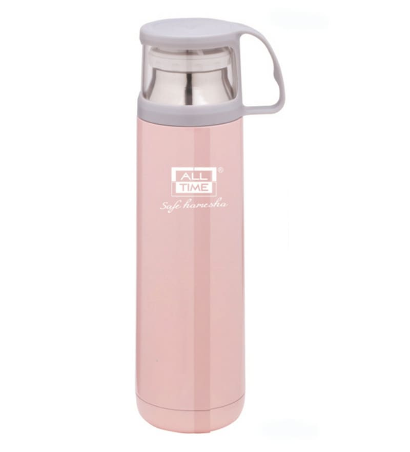 All Time Cresta Pink Stainless Steel & Copper 450 ML Elite Vacuum Flask