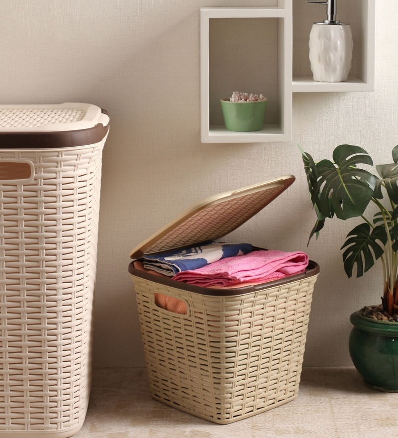 All Time Plastic Beige 15 L Cresta Basket