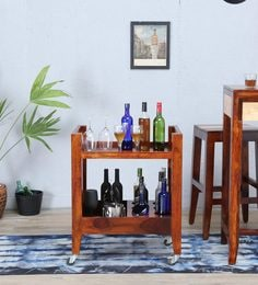 Anitz Bar Trolley In Dual Tone Finish