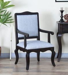 Anne Arm Chair In Warm Chestnut Finish
