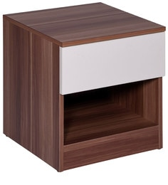 Anne Bedisde Table In White & Maple Finish By Evok